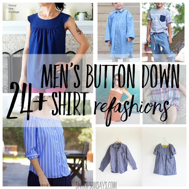 24+ Men's button down shirt refashion ideas